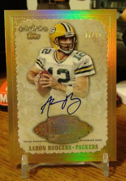 2012 Topps Five Star 2011 NFL MVP Autograph Aaron Rodgers