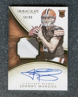 2014 Immaculate Collection #109 Johnny Manziel JSY AU RC/99
