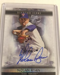 2019 Topps Diamond icons Nolan Ryan auto