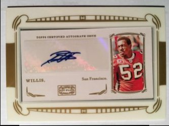 2009 Topps Mayo Autographs #MAPW2 Patrick Willis A
