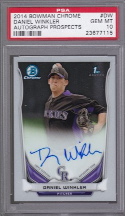 2014 Bowman Chrome Prospect Autographs Daniel Winkler