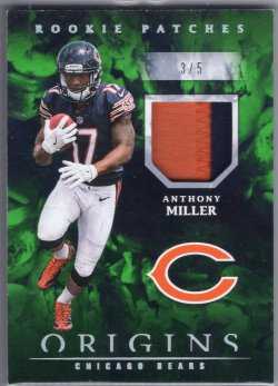 2018 Panini Origins Anthony Miller Rookie Patches Green