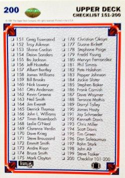 1991 Upper Deck  Check List 151-200