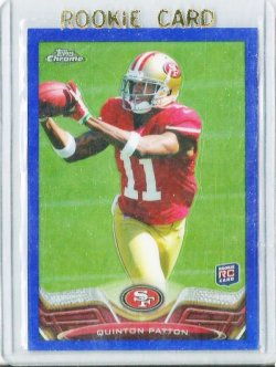 2013 Topps Chrome Blue Refractor # 181 Quinton Patton