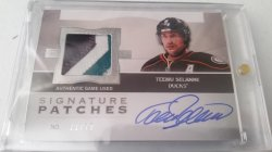 2012-13 Upper Deck The Cup Teemu Sleanness Signature Patches 21/75