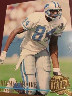 1994 Fleer Ultra  HERMAN MOORE #98 Detroit Lion ProBowl Virginia WR