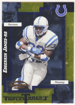 1999 Playoff Contenders SSD Triple Threat Red Edgerrin James