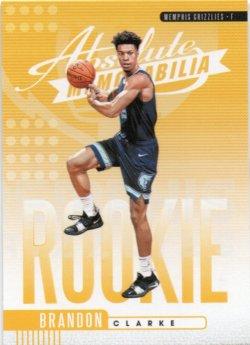 2019-20 Panini Absolute Memorabilia Clarke, Brandon - Rookies Yellow