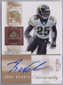 2007  SP Chirography AU RC Reggie Nelson