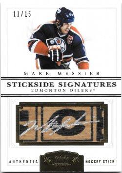 2011-12 Panini Dominion Stickside Signatures Mark Messier