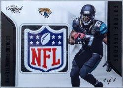2017 Panini Certified Cuts Leonard Fournette future legends black NFL shield 1/1