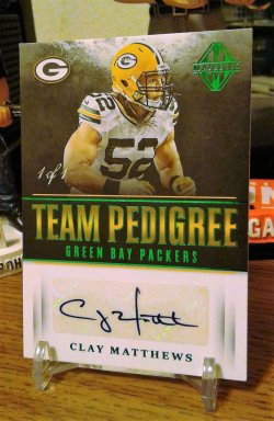 2017 Panini Majestic Team Pedigree Green Clay Matthews