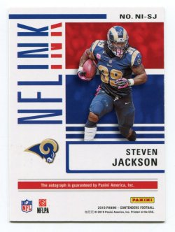 2019 Panini Contendera Steven Jackson Gold NFL INK Back