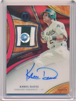 Khris Davis 2018 Topps Tribute Autograph Patches Red /10