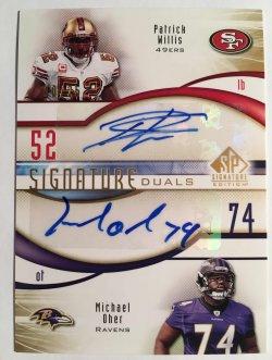 2009 Upper Deck SP Signature  Signature Duals #WO Michael Oher/Patrick Willis /25