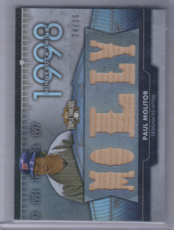 2012 Topps triple threads flashback relics paul molitor