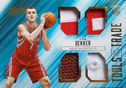 2015-16 Panini Absolute Sam Dekker Tools of the Trade (Dual Patch, Ball, Hat)