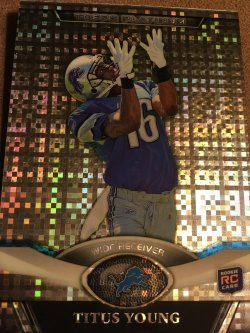 2011 Topps Platinum XFractor RC TITUS YOUNG  #116  Detroit Lions Boise State Broncos WR