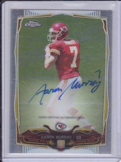 Aaron Murray 2014 Topps Chrome RC AUTO