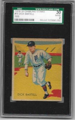 1935  Diamond Stars  Dick Bartell 1935 Diamond Stars SGC 30 7/15/19