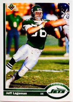 1991 Upper Deck  Jeff Lageman