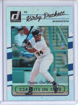 2017 Donruss Baseball Kirby Puckett Stat Line Season