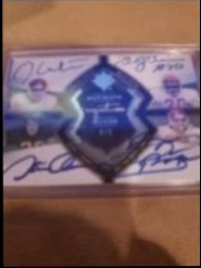 2013 Upper Deck Ultimate  Jason White Billy Sims Steve Owens Brian Bosworth 2013 ultimate quad on card auto 4/5