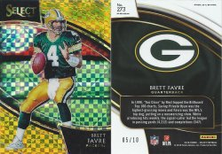 2018  Select Prizm Gold #273 Brett Favre
