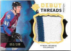 2012-13 Upper Deck Ultimate Collection Debut Threads Tyson Barrie