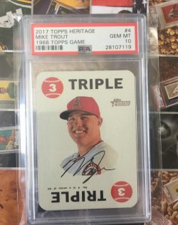 2017 Topps Heritage 1968 Topps Game Mike Trout