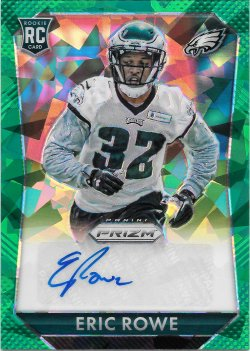 2015 Panini Prizm Rookie Autographs Green Cracked Ice Eric Rowe