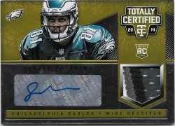 2014 Panini Totally Certified Rookie Autograph Jerseys Prime Platinum Gold Jordan Matthews