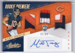 2017 Panini Absolute Mitchell Trubisky RPM Triple Patches