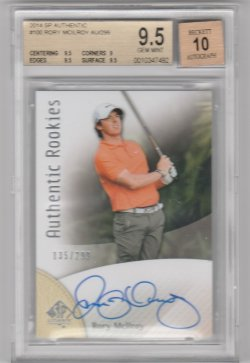 2014 Upper Deck Sp Authentic Rookie Rory Mcilroy
