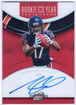 2018 Playoff Contenders Optic Anthony Miller Rookie of the Year Contenders Red