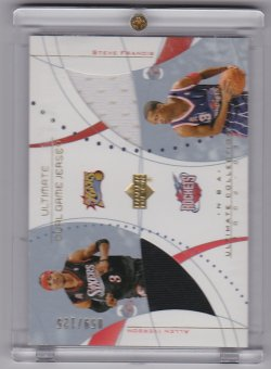 2002-2003 Upper Deck Ultimate Dual Jerseys Allen Iverson / Steve Francis