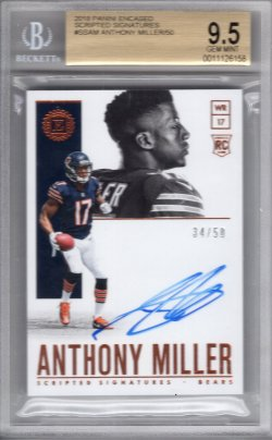 2018 Panini Encased Anthony Miller Scripted Signatures