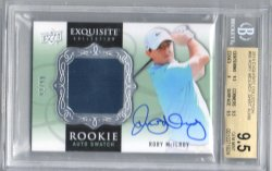 2014 Upper Deck Exquisite Rory McIlroy Rookie Auto Swatch RPA