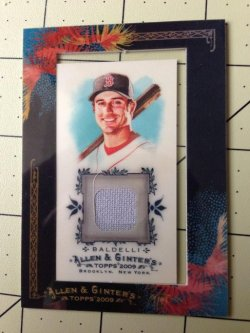Topps Allen and Ginter Rocco Baldelli Jersey
