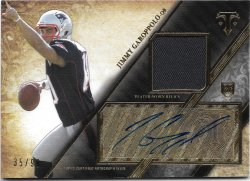 2014 Topps Triple Threads Rookie Autograph Relics Jimmy Garoppolo