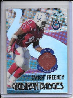 2005 Topps Chrome Gridiron Badges Jersey - Dwight Freeney