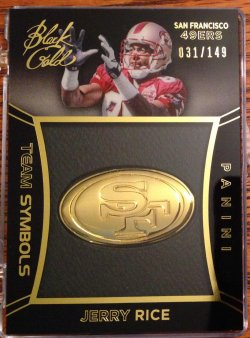 2014 Panini Black Gold Jerry Rice Team Symbols