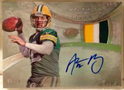 2013 Topps Five Star Aaron Rodgers Patch Autograph