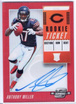 2018 Playoff Contenders Optic Anthony Miller Rookie Ticket RPS Autographs Red