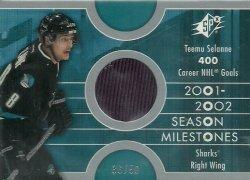 2002/03  SPx Milestones Silver Selanne