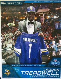 2016 Topps Huddle Laquon Treadwell Signed Photo