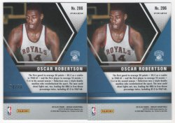 2019 Panini Mosaic Oscar Robertson red and red fusion back