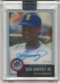 2020 Topps Clearly Authentic Ken Griffey Jr. 1953 Reimagined Autograph
