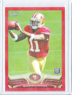 2013 Topps Chrome Red Refractor # 181 Quinton Patton