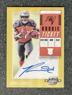 2018 Donruss Optic Rated Rookies Autographs Gold #159 Ronald Jones II/10